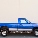 BLUE DODGE SINGLE CAB