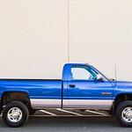 BLUE DODGE SINGLE CAB