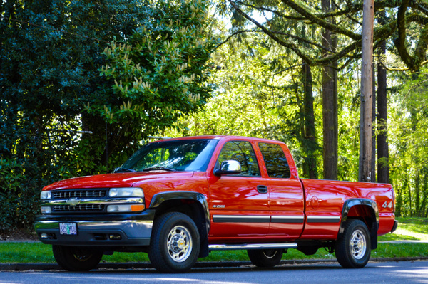 RED CHEVY EXT CAB by RobertStevens by RobertStevens