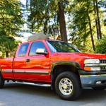 RED CHEVY EXT CAB