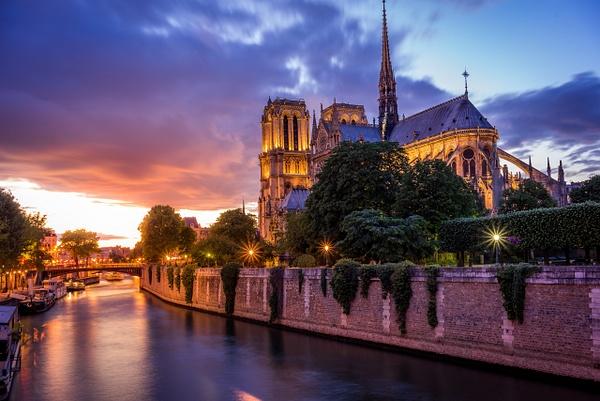 Notre Dame Paris Coucher de Soleil - Home - Paris - Serge Ramelli Photography