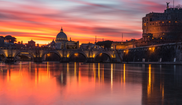 Rome By Night by Serge Ramelli