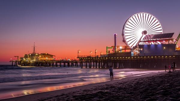 Santa Monica Pier Sunset - Landscapes - Dee Potter Photography