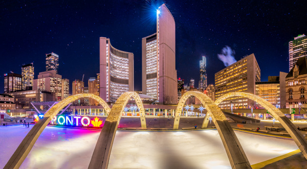Toronto City Hall Starry Night - Urban - Dee Potter Photography