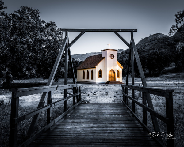 IS#5 - Lonely Chapel - Paramount Ranch, Calabasas, California - Isolation Series - Dee Potter Photography