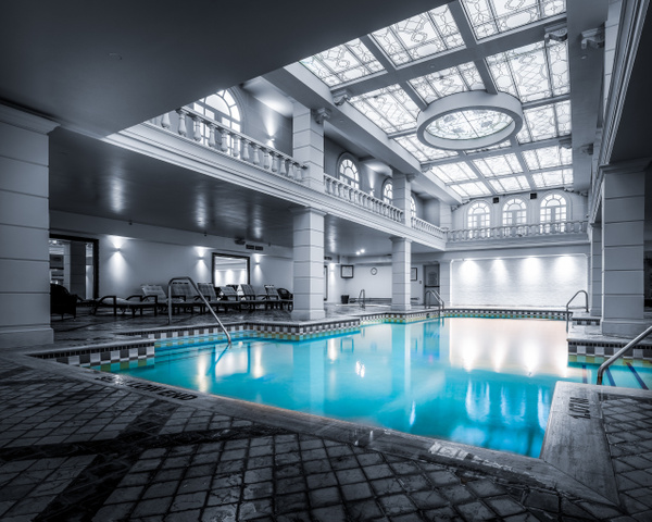 IS#2 - Patience: Grand Hotel Pool - Toronto - Isolation Series - Dee Potter Photography