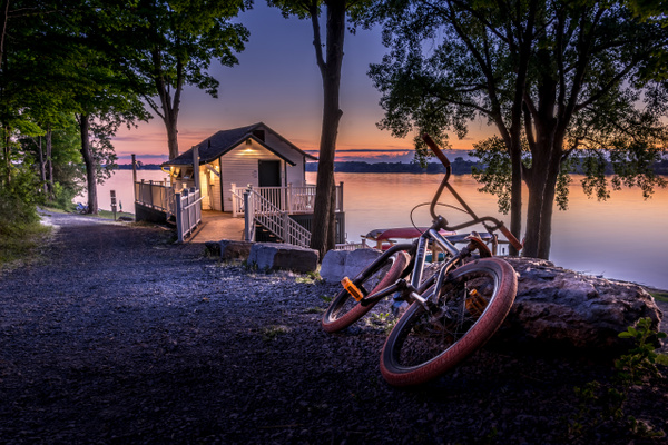 Bicycle at the Boathouse - Canada - Dee Potter Photography