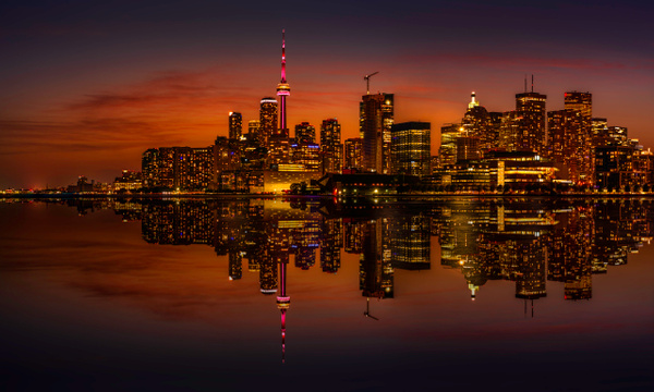 Toronto Gold Reflection