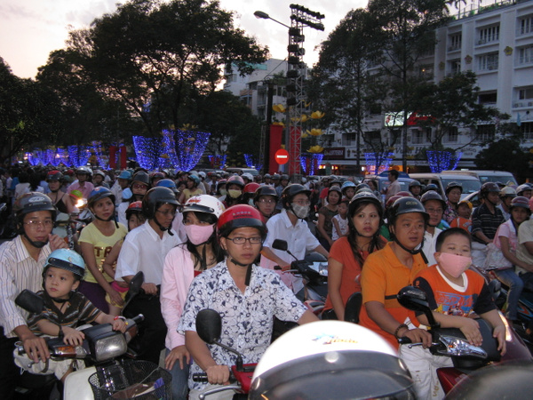 Street traffic for TET  HCMC - Home -  Michael J. Donow Photography
