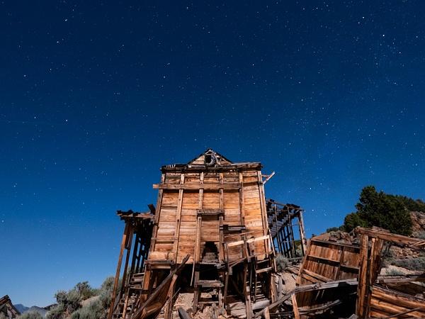Mine at night by Bruce Crair