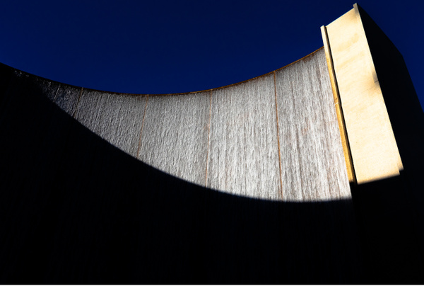 Water Wall, Houston, USA - Geometry & Shapes - Justine Kirby Photography