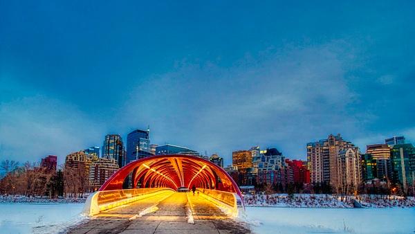 Peace Bridge Calgary1 - Cityscape -Red Rover Photography