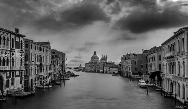 Venise Grand Canal 001 - Black & White - Patrick Eaton Photography
