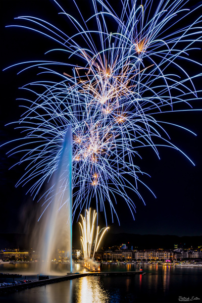 Geneva - FireWorks - August 2018 - 001_ - Cityscape - Patrick Eaton Photography