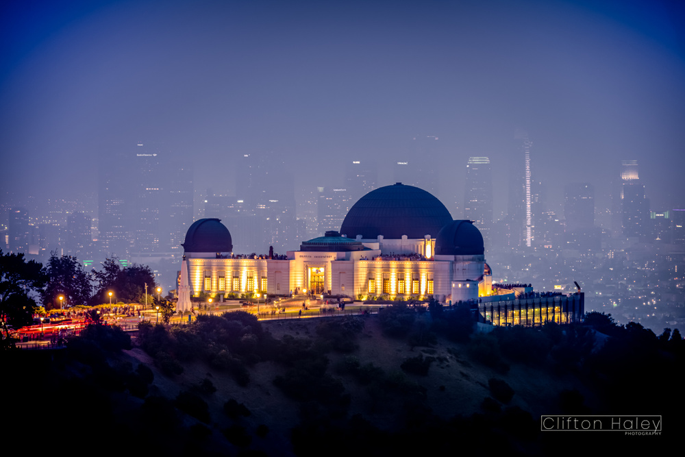 Griffith Observatory with LA