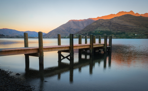 Dock at sunrise - New Zealand - Kirit Vora Photography