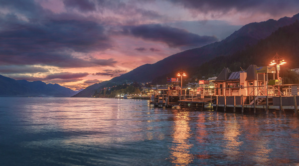 Lake Wakatipu night - New Zealand - Kirit Vora Photography