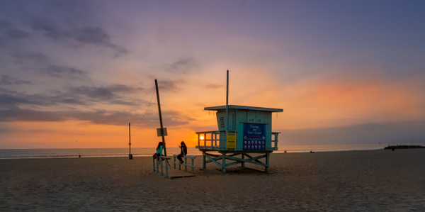 Santa Monica Beach sunset - Los Angeles - Kirit Vora Photography
