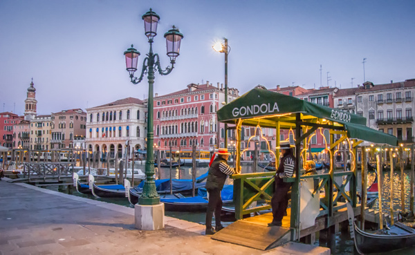 Gondolier at break - Venice - Kirit Vora Photography