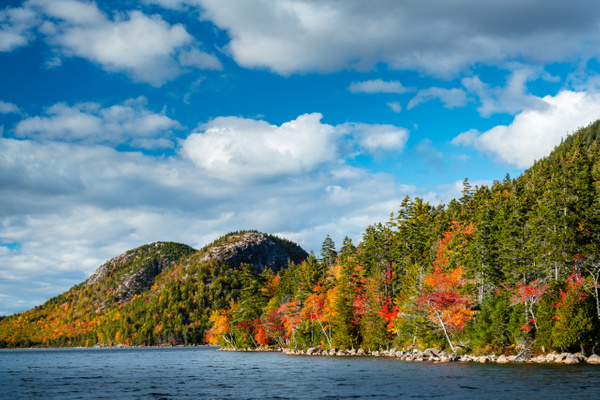 Fall color on hills - Maine Acadia Park - Kirit Vora Photography