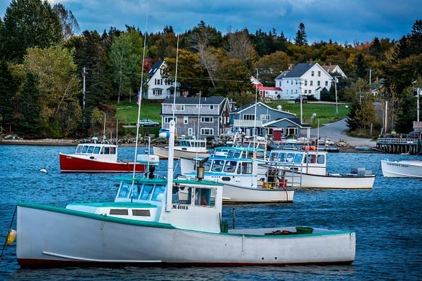 Boats in Harbor - Maine Acadia Park - Kirit Vora Photography