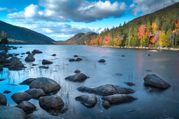 Lake and sky - Maine Acadia Park - Kirit Vora Photography