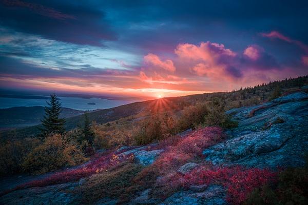 Last Rays of sun - Maine Acadia Park - Kirit Vora Photography