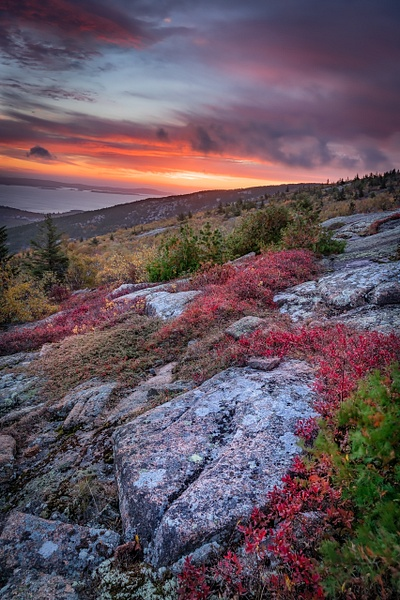Sunset at Acadia - Maine Acadia Park - Kirit Vora Photography