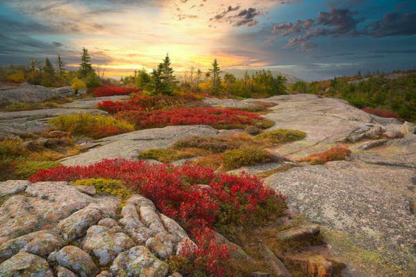 Sunset in Maine - Maine Acadia Park - Kirit Vora Photography