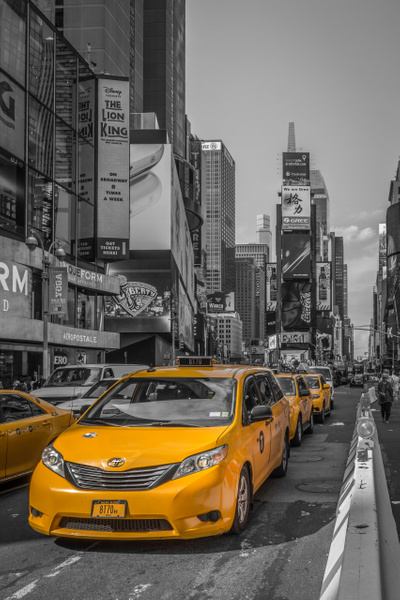 NewYork-Cab-ColorKey-TimeSquare by ReiterPhotography