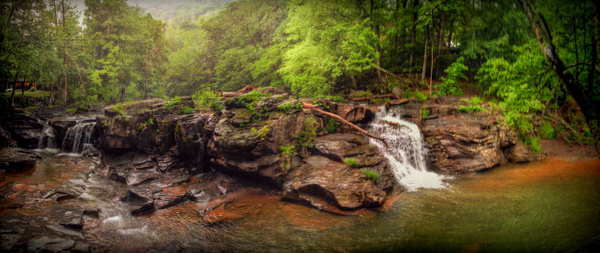 Waterfall pano - Upstate New York - Joanne Seador Photography