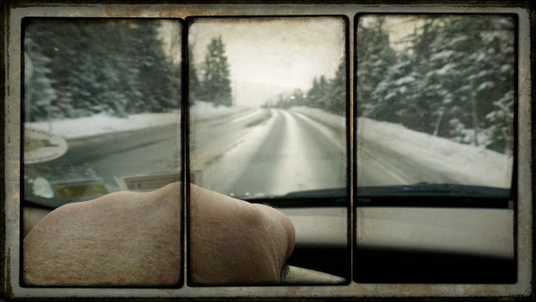 Hand in Car, Triptych - Special Processes - Joanne Seador Photography