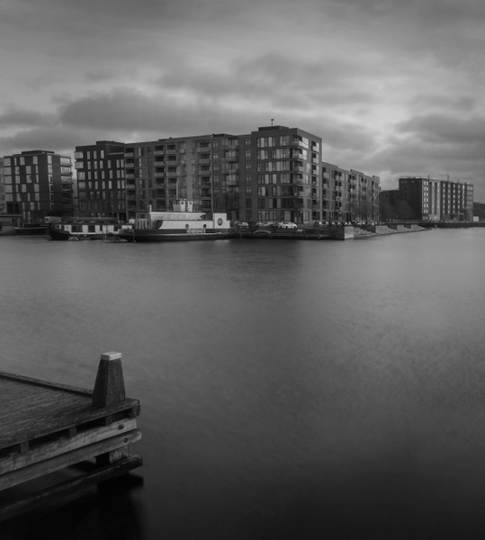 across the water bw - Black and white photography