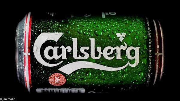 Carlsberg can with waterdrops - Close-ups - Molin Photos