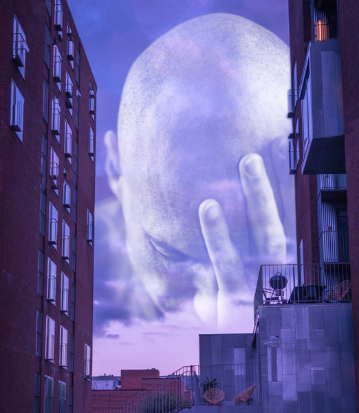 cloudface in the alley - Photoshopped - Molin Photos