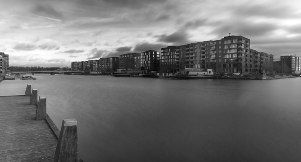 wintersky over city - Copenhagen City, denmark