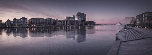 nordhavn pano skib reflec - Copenhagen City, denmark