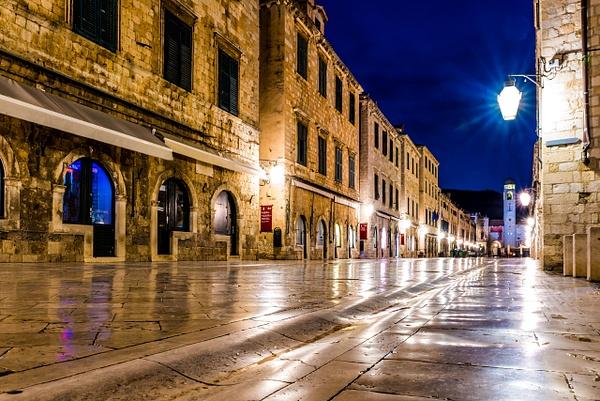 Stradun, Old Town's Main Street by Luc Jean