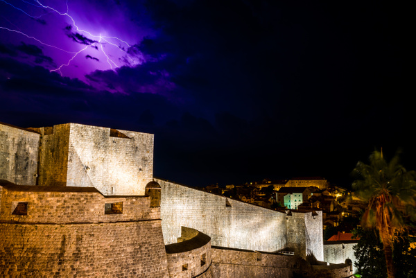 Lightning over the Fortress by Luc Jean