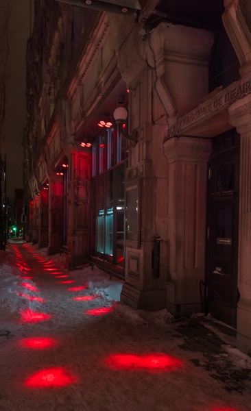 Dotted Sidewalk - A walk at night in ... Montreal - Luc Jean Photography