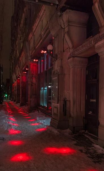 Dotted Sidewalk by Luc Jean
