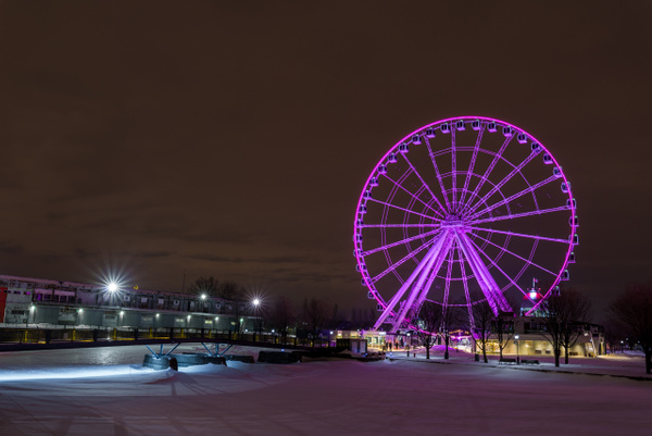 Ferris wheel - A walk at night in ... Montreal - Luc Jean Photography