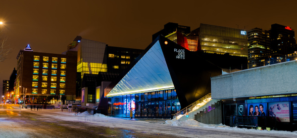 Place des arts - A walk at night in ... Montreal - Luc Jean Photography
