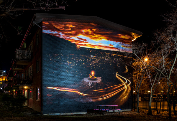 Murale - A walk at night in ... Montreal - Luc Jean Photography