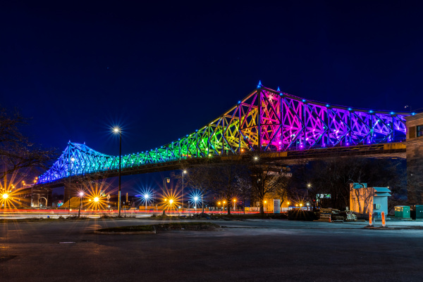 Jacques Cartier Bridge 02 - A walk at night in ... Montreal - Luc Jean Photography