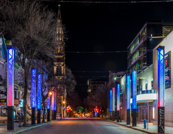 St-Denis street by Luc Jean