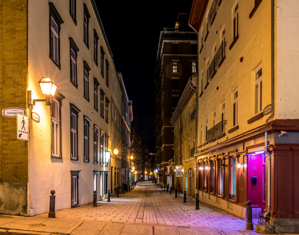 Old Quebec city - Empty street 01 by Luc Jean