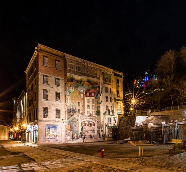 Quebec City Mural-La Fresque des Québécois by Luc Jean