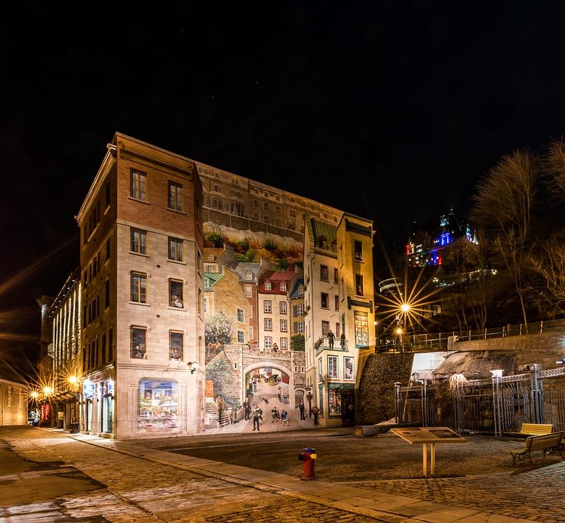 Quebec City Mural-La Fresque des Québécois