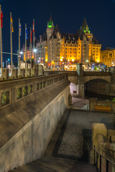 Chateau Laurier from a distance by Luc Jean